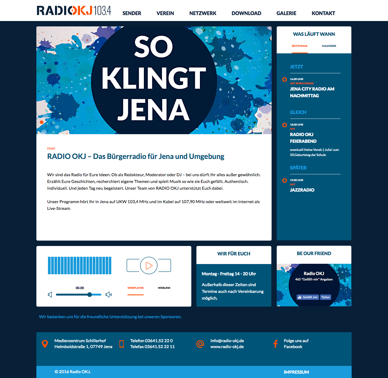 Startseite von RADIO OKJ 103.4